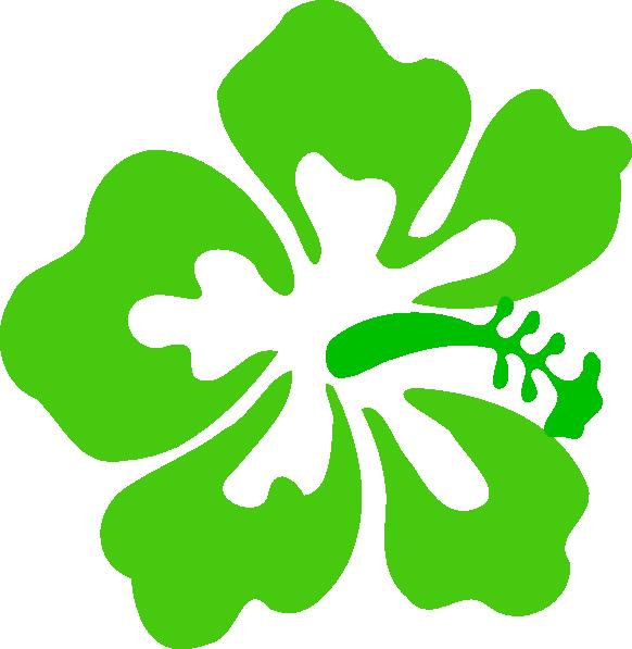 Green Tropical Flower Clip Art at Clker.com - vector clip art online ...