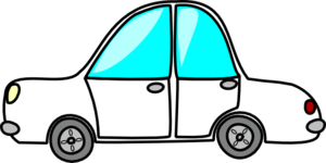 Cartoon White Car Clip Art