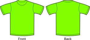 Plain Green T-shirts Clip Art