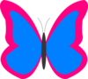 Bright Butterfly2 Clip Art