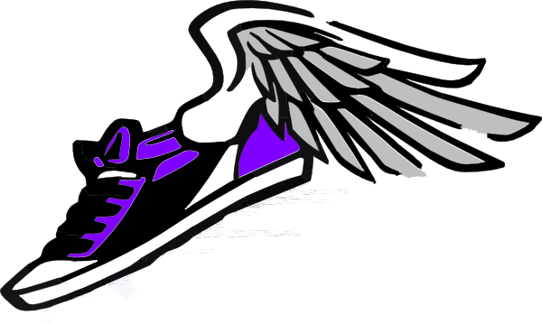 running shoe with wings clip art at clker com vector shoe print clip art vector free shoe print clip art black and white