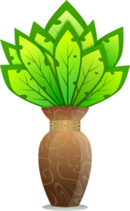 Plant And Vase Clip Art