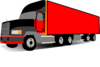 Truck 18 Wheeler Trucker Clip Art