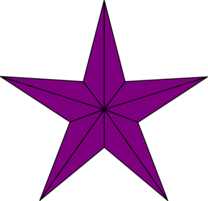 Purple Lined Star Clip Art