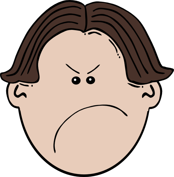 angry kid face clip art - photo #8