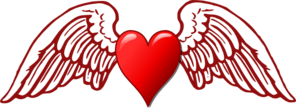 Heart And Wings Clip Art