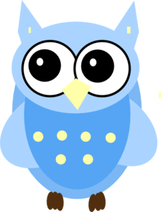 blue baby owl clip art at clker com vector clip art online rh clker com baby shower owl clipart