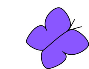 Blue/purple Butterfly 2 Clip Art