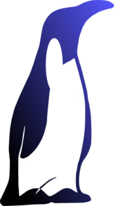 Sad Penguin Clip Art