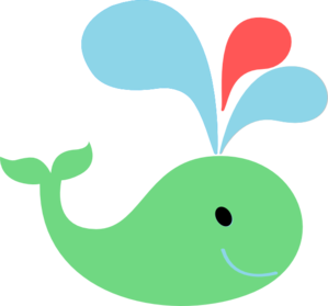 Green Red Blue Whale Clip Art