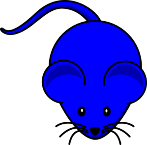 Blue Mouse Graphic Clip Art
