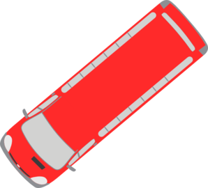 Red Bus - 220 Clip Art