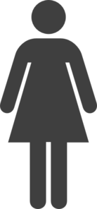 Female, Dark Gray Clip Art
