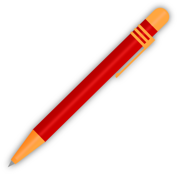 red pen clip art at clker com vector clip art online royalty free rh clker com pen clip art black and white pen clipart transparent