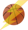 Basketball With Lightning Bolt Clip Art