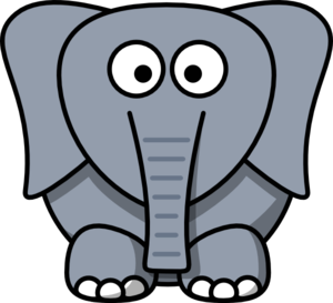 Cartoon Elephant Clip Art at Clker.com - vector clip art online ...