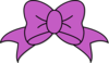 Purple Hair Bow Clip Art