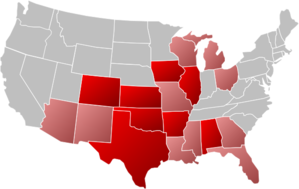 Select States U.s. Map Clip Art