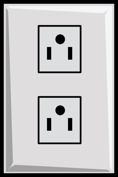 Power Outlet, Us Clip Art at Clker.com - vector clip art ...