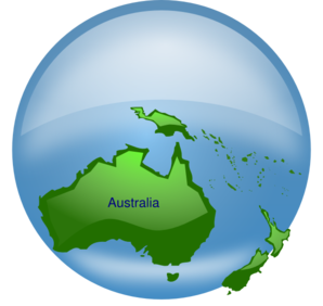 Australia On Globe Clip Art
