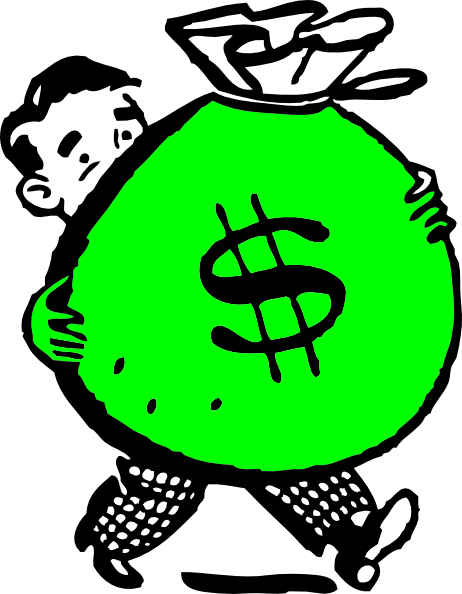 Green Money Bag Clip Art at Clker.com - vector clip art ...