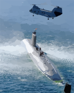 Submarine Personnel Transfer Exercise. Clip Art