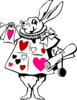 Wonderland Bunny Pink And Red Clip Art