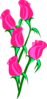 Bunch Of Pink Roses Clip Art