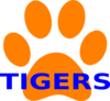 Orange Paw Print Tigers 2 Clip Art