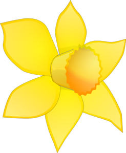 Daffodil Image Stripped Clip Art