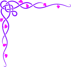 Free Purple Celtic Vine Corner Clip Art