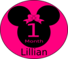 Minnie Mouse 1 Month B1 Clip Art