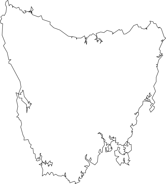 Tasmania Map Clip Art At Clker Com