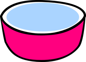 Pink Water Bowl For Dog Clip Art at Clker.com - vector clip art online ...