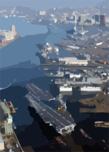 The Nuclear Powered Aircraft Carrier Uss Harry S. Truman (cvn 75) Transits The Elizabeth River Following Completion Of A Six-month Planned Incremental Availability (pia) At Norfolk Naval Shipyard. Clip Art