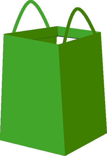 Green shopper bag clip art at clker vector