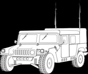 Clipart Hummer Outline