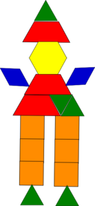 Clown Made With Shapes Clip Art