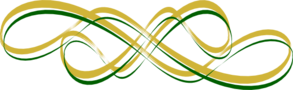 Thickest Gold W/ Thin Green Swirl Clip Art