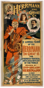 Herrmann The Great Co. 3rd Annual Tour Of The Herrmann The Great Co. : The Premier Magical Entertainment Of The World : Headed By Leon And Adelaide Herrmann In New Startling Sensations And Illusions, Eclipsing Anything Ever Attempted In The World Of Magic. Clip Art