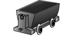 Empty Coal Wagon Clip Art
