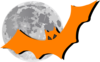 Bat In The Moonlight Clip Art
