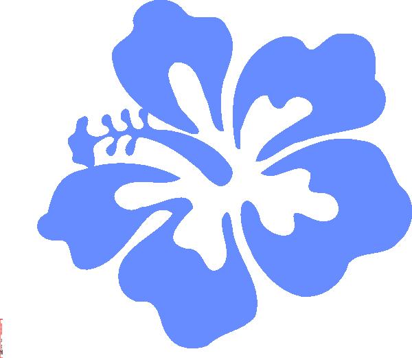 Light Blue Hibiscus Flower Clip Art at Clker.com - vector clip art ...