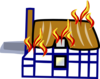 Fire In House Clip Art