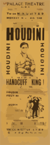 Special Starring Record Engagement Of The World S Famous Jail Breaker, Houdini The Only And Original Handcuff King. Clip Art