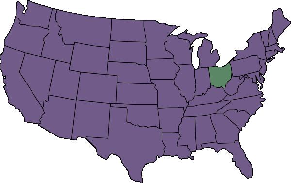 Us Map Highlighting Ohio Clip Art At Clkercom Vector Clip Art - Ohio-on-us-map