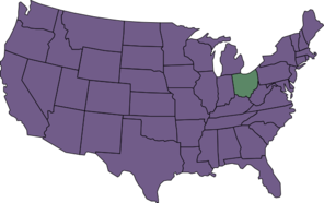 U.s. Map Highlighting Ohio Clip Art