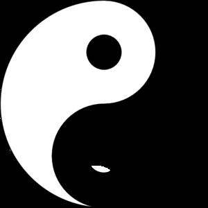 yin yang logo clip art at clker com vector clip art online rh clker com yin yang symbol text yin yang symbol text