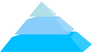 Pyramid 3 Blocks Clip Art