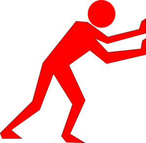 Man Pushing Red Clip Art